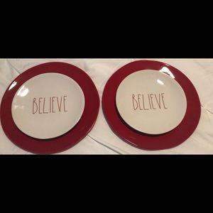 4 Rae Dunn Christmas Plates